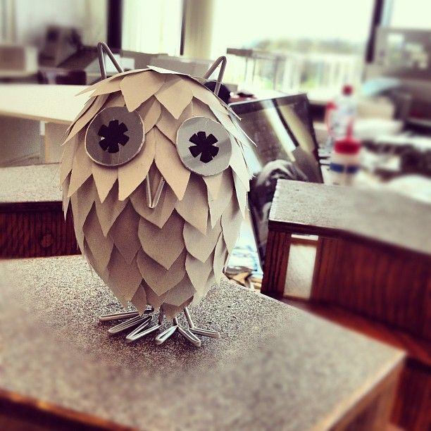 Owl Paper Sculpture #Owl #Paper #Sculpture