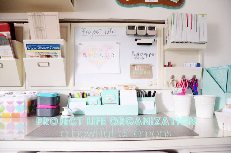 Project Life Organization in your home office or craft space- A Bowl Full of Lemons