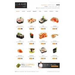 Sushi restaurant and delivery business custom ecommerce website