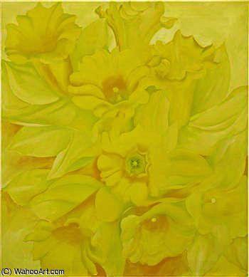 Jonquilles jaunes iv de Georgia O'keeffe (1887-1986, United States)
