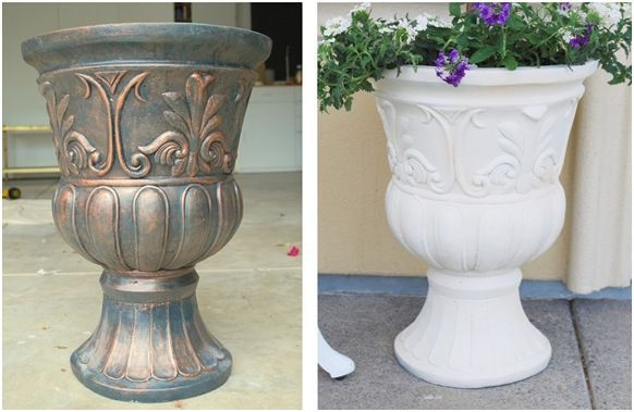 Painted plastic planters | ve painted plastic planters before with good results, and realized ...