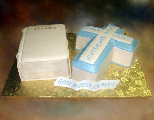Christening Bible & Cross Cake