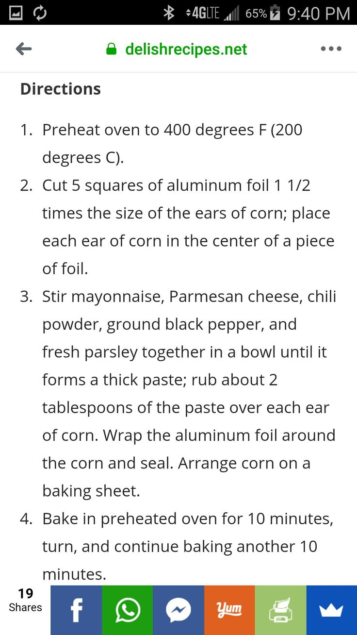 Pin by Penny Smith on Food Ears of corn, Directions