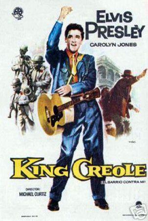 King Creole Elvis Presley Vintage Movie Poster