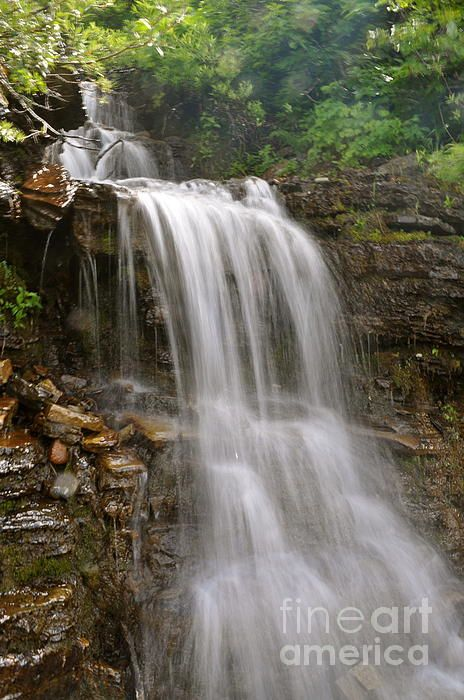 Waterfall on the Garden Wall, Glacier National Park