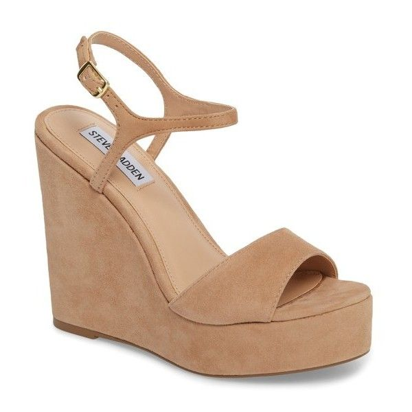 6258bc327249 Women s Steve Madden Truce Wedge Sandal ( 90) ❤ liked on Polyvore featuring  shoes