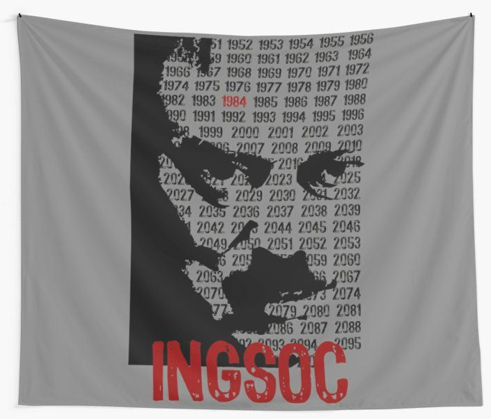 1984 Movie Wall Tapestry. #1984movie #orwell #movie #nineteeneightyfour #walltapestry #tapestry #books #fiction #dystopianfiction #bookworm #redbubble #movies #cinema #cinephile #popular #home #art #design #homedecor #homegifts #art #design #online #shopping #giftsforhim #family #style #fashion #bachelor #mancave #giftsforher #xmasgifts #christmasgifts #cinephile #39 #deals #dorm #campus #fraternity #house #decor • Also buy this artwork on home decor, apparel, stickers, and more.