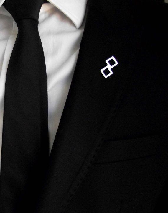 Groom's boutonniere, tie tack, groom's pin, gentleman brooch, men accessories, suit pin, minimalistic lapel pin, wedding boutonniere