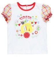 MMDadak Dievčenské tričko s cirkusom - biele