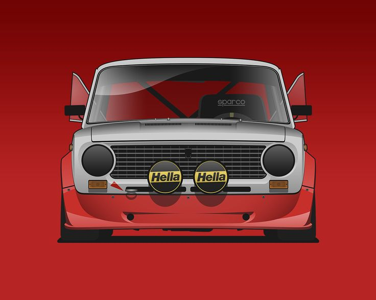 Fiat 124   Lada Racing #vaz2101 #fiat124