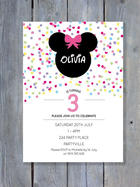 MINNIE Mouse Invitation for Birthday Party  by SweetScarletDesigns