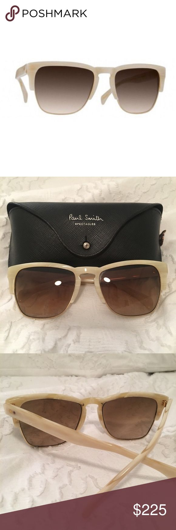 NEW Paul Smith Romiley Sunglasses Paul Smith Sunglasses Romiley Beige Silk/Brushed Gold With Mink Gradient, 100% Authentic, come with Original Case, Cleaning Cloth and Certificate Of Authenticity. Paul Smith Sunglasses Romiley Beige Silk/Brushed Gold With Mink Gradient exudes endurance, allurement, and have a classic style while creating a modern feel. Manufactured in Italy. Size: Eye 56, Bridge 20, Temple 140 Paul Smith Accessories Sunglasses