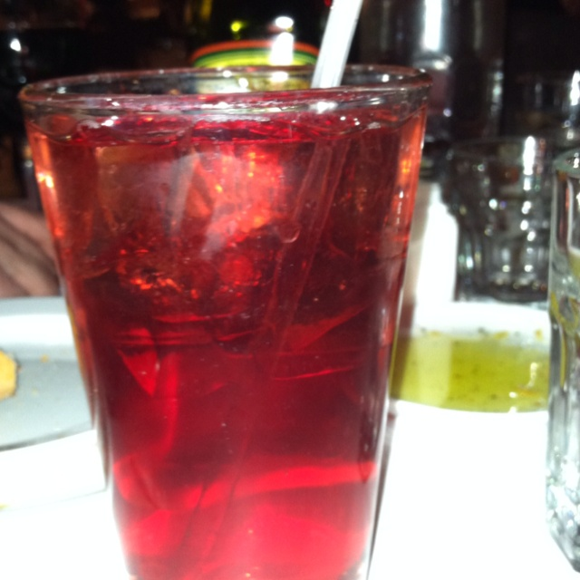 Pomegranate Italian Soda-Macaroni Grille | Yummy Goods | Pinterest