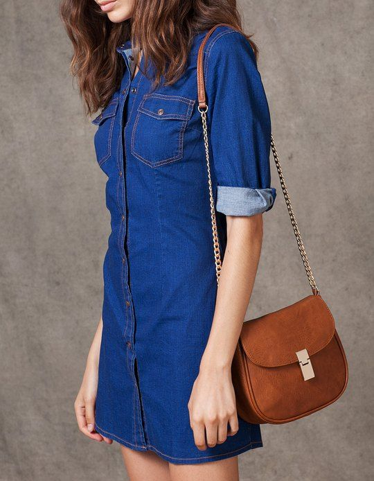 At Stradivarius you'll find 1 Denim dress with button detail for woman for just 55.95 BAM . Visit now to discover this and more DRESSES.