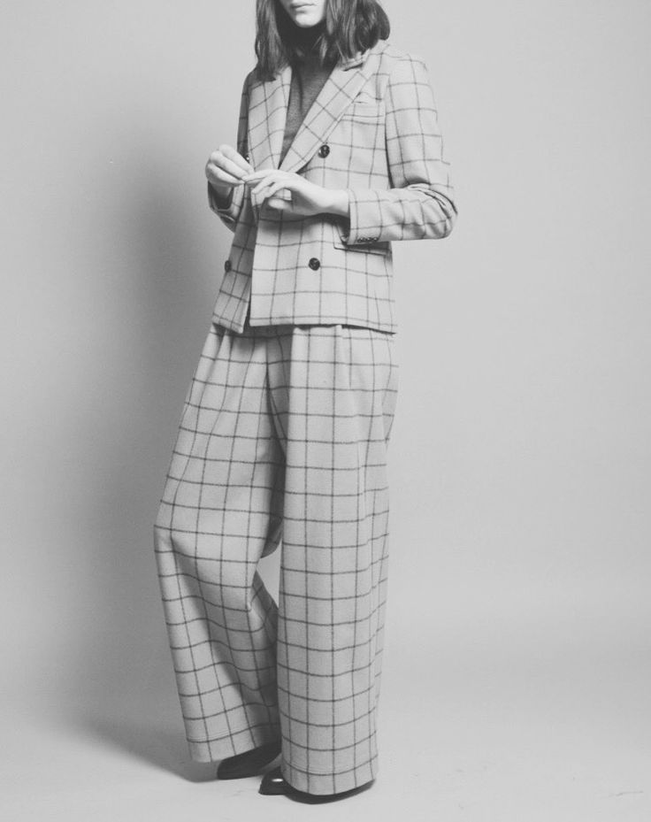 Chic Style - tailored grid print suit, modern workwear // No. 6 A/W 2015