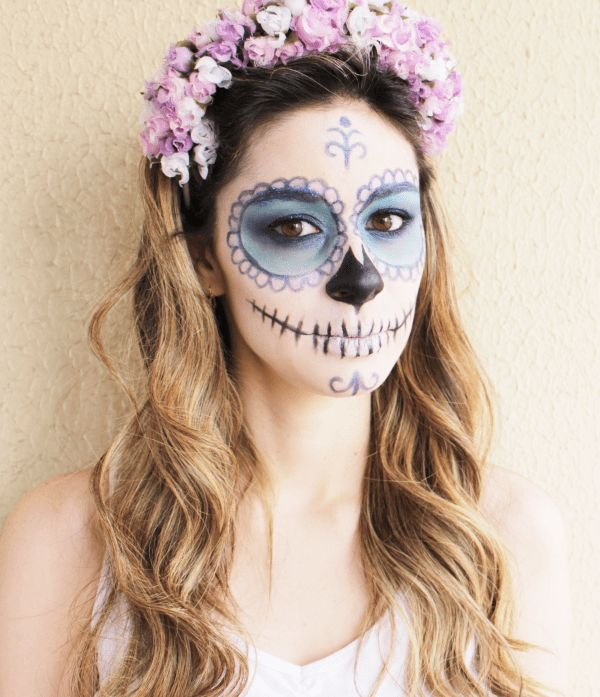 Pin by Katiana Vecio on Caveira | Pinterest | Halloween, Halloween Makeup and Costume Makeup