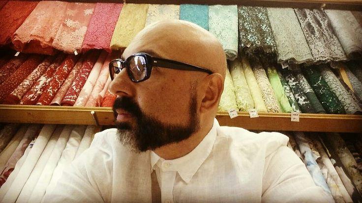 designer Yan Pothin at Saigon fabrics  @somadesign.com.au