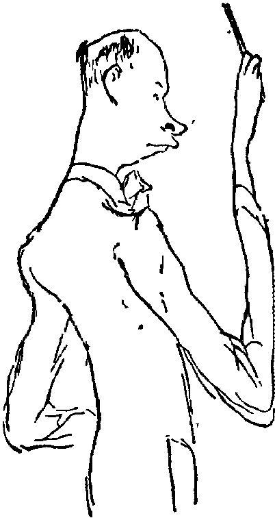 С. Прокофьев. Шарж Н. Соколова (1929)
