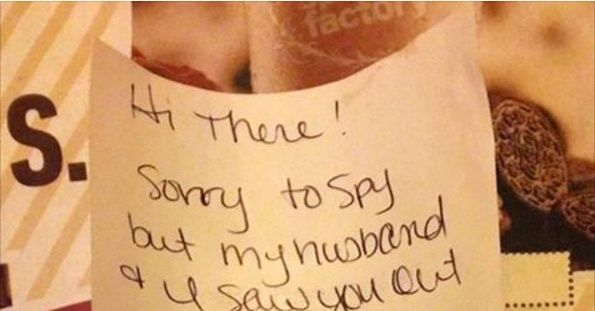 Dad's Enjoying Dinner Date With Daughter. Then Waitress Interrupts And Hands Him A Note http://sharebears.net/0cc3cd62f6