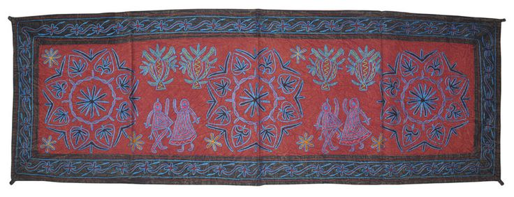 Ethnic Indian Wall Hanging Decor Vintage Cotton Embroidered Design Wall Hanging #lalhaveli #Traditional