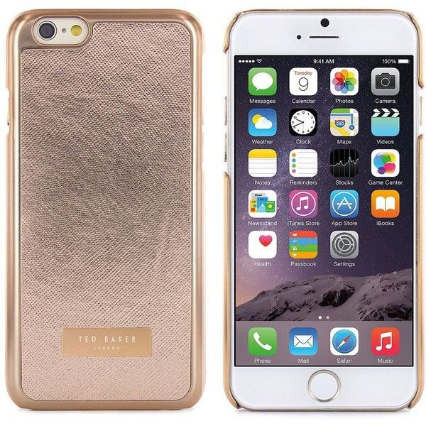 Ted Baker London Renaye Metallic iPhone 6 Case ($30) ❤ liked on Polyvore featuring accessories, tech accessories, phone, phone cases, cases, celulares, rose gold and ted baker