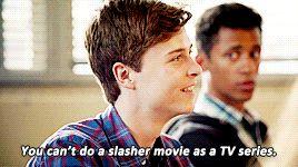 "scream the tv series Noah ""some guys like sports i like serial killers"" - Google Search"