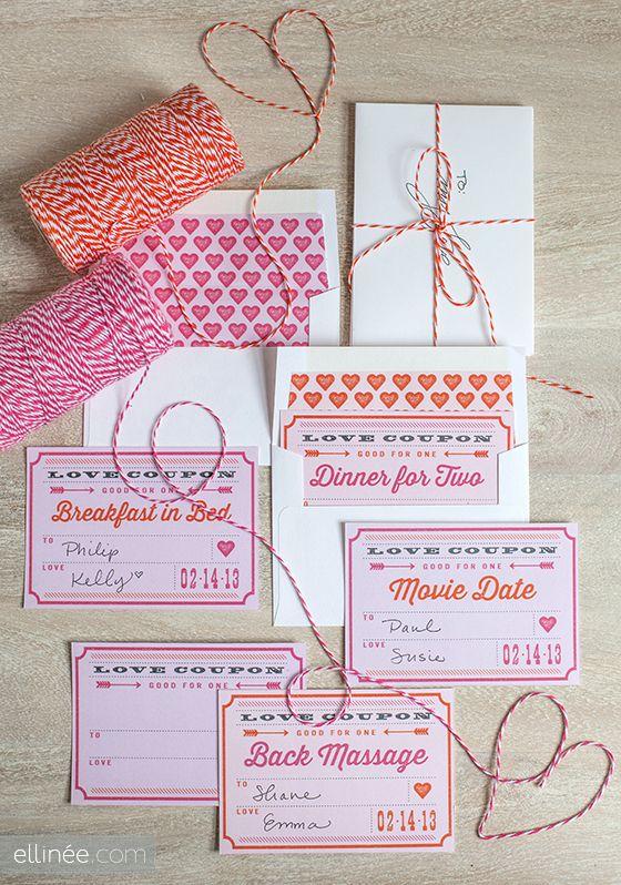 des coupons et des liners pour vos enveloppes...