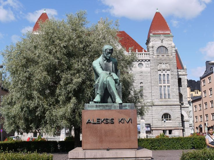 Aleksis Kivi (1834-1872) is Finland's national author. Wäinö Aaltonen's bronze memorial to him was unveiled on October 10, 1939. The unveiling was preceded by a two-stage competition in 1928-30, the first of which was won by Carl Wilhelms and the second by Aukusti Veuro. However, the memorial was finally commissioned from Wäinö Aaltonen. In 1932, the memorial committee commissioned a plaster draft which was finished in 1934 and cast in bronze in 1939.