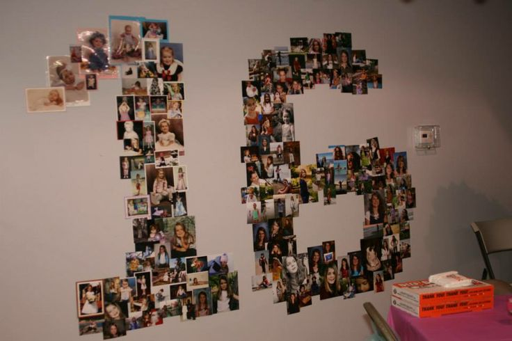 Sweet 16 party idea or any other big birthday photo idea