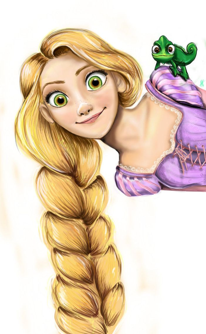 Hello Punzie and Pascal by ~AnnieIsabel on deviantART  I love this classic shot of Rapunzel but done in the old handrawn style.