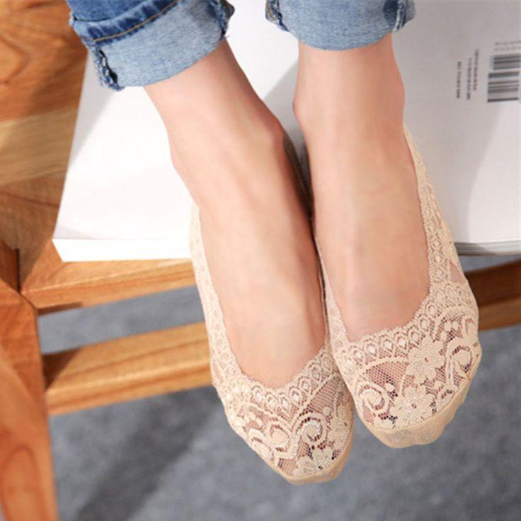 14 шт. = 7 пар/лот Бамбуковое волокно женские кружевные носки невидимые Носки противоскользящие высокое качество summer тапочки женщина леди женский сокс купить на AliExpress
