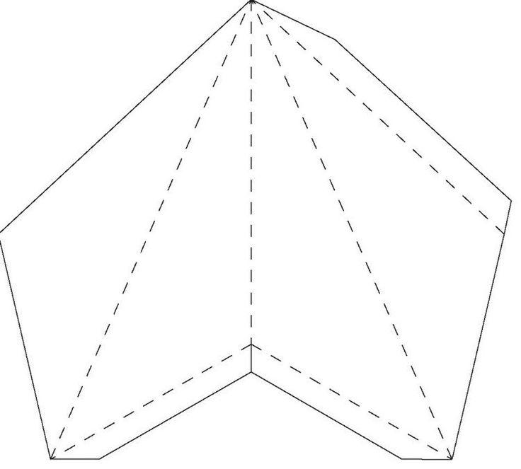 modèle à imprimer: découpage, pliage et collage d'étoile de Noel