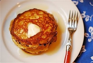 I love this homemade pancake mix (with malt powder) recipe. It's quick and easy to mix up and I just store it in a ziplock in my pantry.  You just add 1 cup milk (I like to add a little buttermilk to mine) and 1 egg to 1 cup of the pancake mix to make really delicious pancakes!