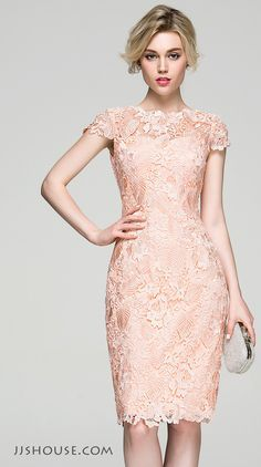An ultra feminine stunning. You will be a fair lady in this sheath scoop neck…