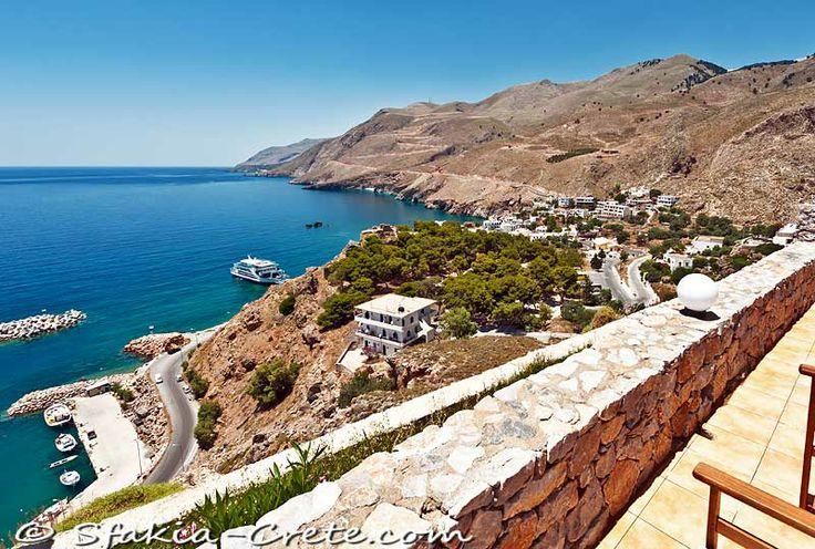 View on Chora Sfakion, Sfakia, Crete