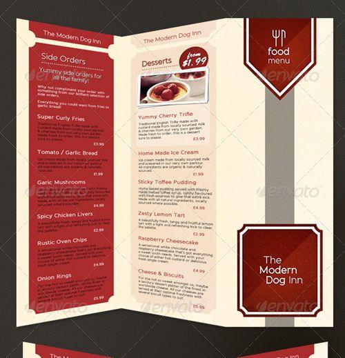 25 high quality restaurant menu design templates