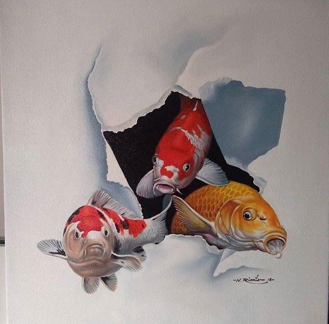 Gambar 3d Ikan