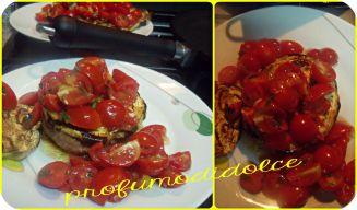 idea veloce per il pranzo o la cena.......  http://blog.giallozafferano.it/profumodidolce/hamburger-home-madegrigliati-con-melanzane-e-pomodorini/