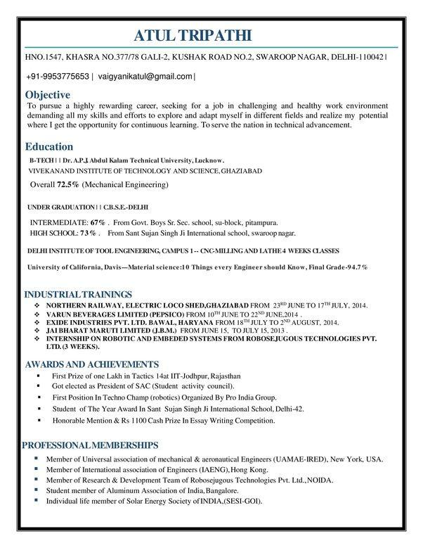 What Is The Best Resume For Mechanical Engineer Fresher Quora Engineering Resume Mechanical Engineer Resume Best Resume