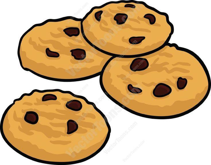 Coloring Page Chocolate Chip Cookie Color This Picture Of A