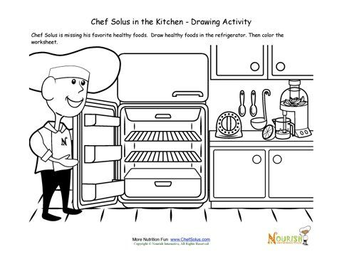 Kitchen Drawing For Kids 58 best health/chef/nutrition images on pinterest