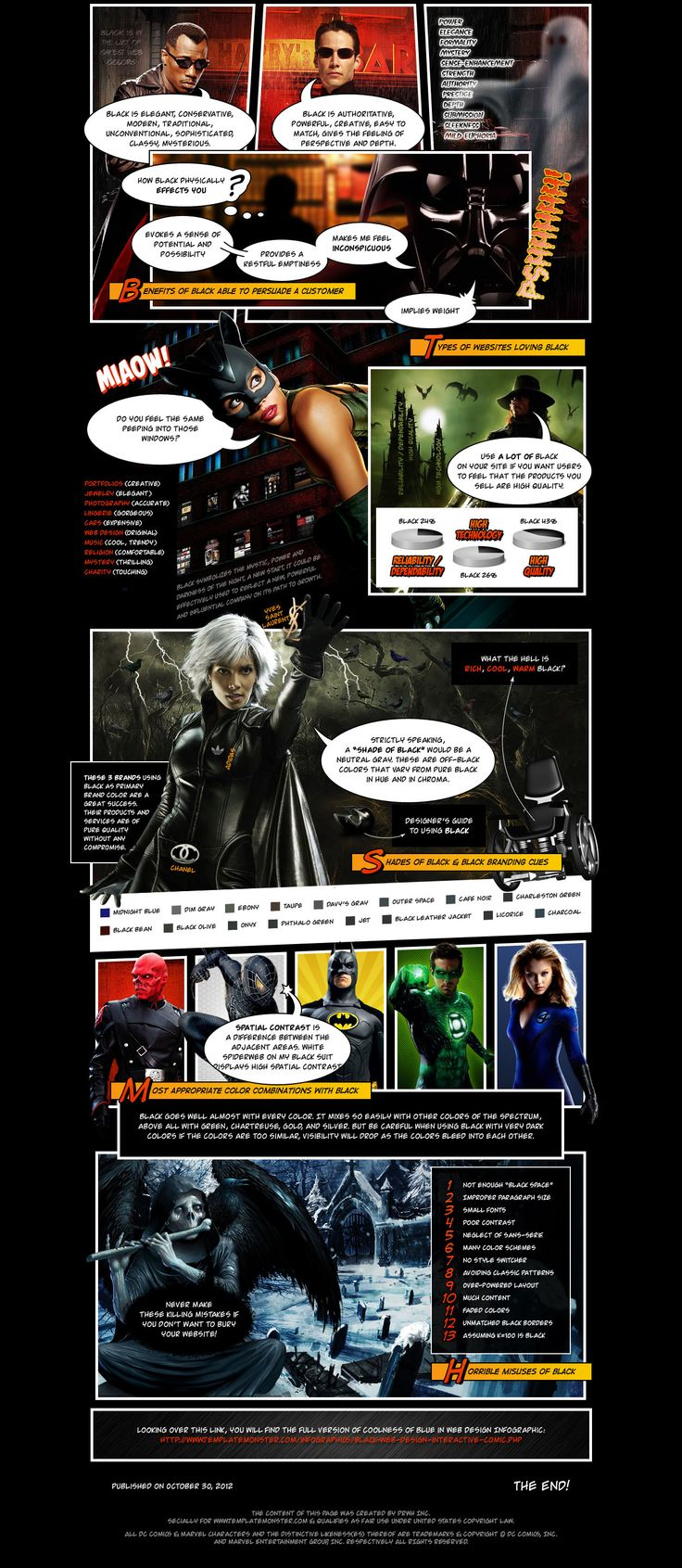 black color infographic