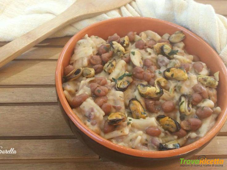 Pasta e fagioli con le cozze  #ricette #food #recipes