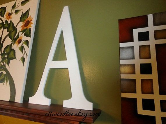 Large Signature Letters Wood Letters Guest Book by AllWoodToo Add your #LargeWeddingLetter to your home decor, after the day is over.  What a great way to enjoy the #GuestSignatures from your wedding day. #SignatureLetters, $40