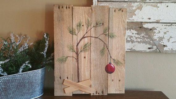 Charlie Brown Christmas tree Hand panted by TheWhiteBirchStudio