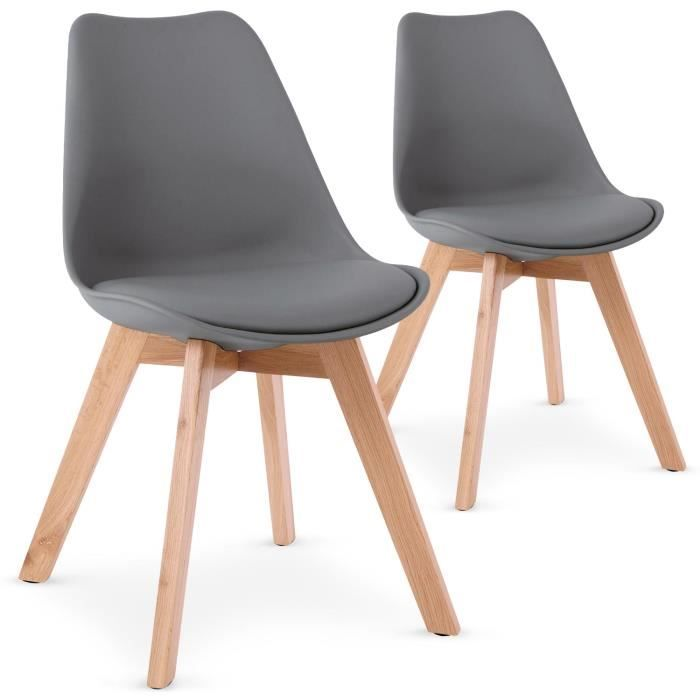 Lot De 2 Chaises Style Scandinave Bovary Gris Chaise Idee De Decoration Style Scandinave