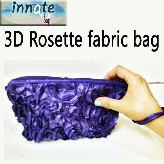 3D Chiffon Roses clutch by InnateArtisanShop on Etsy