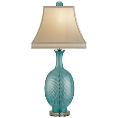 currey and company artois aqua blown glass table lamp. Black Bedroom Furniture Sets. Home Design Ideas