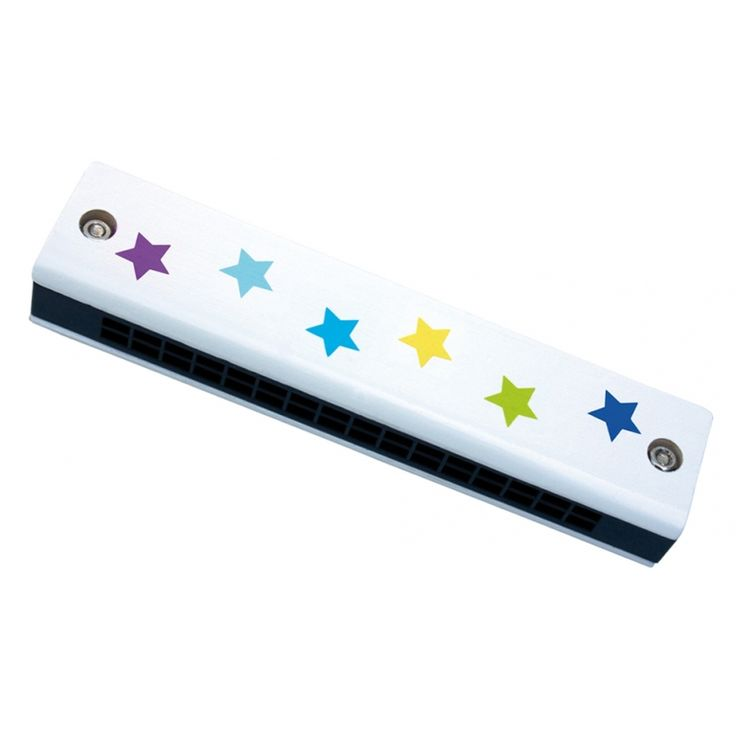 JaBaDaBaDo Kinder Mundharmonika 'Sterne' blau/bunt ca. 12cm bei Fantasyroom online kaufen