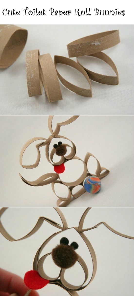 Cute Toilet Paper Roll Bunnies | Crafts and DIY Community